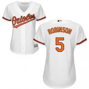 Wholesale Cheap Orioles #5 Brooks Robinson White Home Women's Stitched MLB Jersey