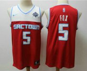 Wholesale Cheap Men's Sacramento Kings #5 De'Aaron Fox Red 2020 Nike City Edition Swingman Jersey With The Sponsor Logo
