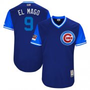 "Wholesale Cheap Cubs #9 Javier Baez Royal ""El Mago"" Players Weekend Authentic Stitched MLB Jersey"