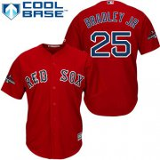 Wholesale Cheap Red Sox #25 Jackie Bradley Jr Red Cool Base 2018 World Series Stitched Youth MLB Jersey