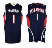 Wholesale Cheap Atlanta Hawks #1 Tracy McGrady Revolution 30 Swingman Blue Jersey