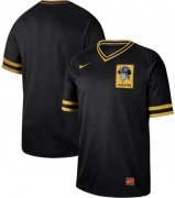 Wholesale Cheap Nike Pirates Blank Black Authentic Cooperstown Collection Stitched MLB Jersey