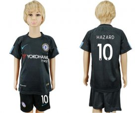 Wholesale Cheap Chelsea #10 Hazard Sec Away Kid Soccer Club Jersey