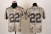 Wholesale Cheap Nike Cowboys #22 Emmitt Smith Camo Men's Stitched NFL New Elite USMC Jersey