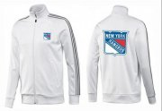 Wholesale Cheap NHL New York Rangers Zip Jackets White-2
