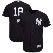 Wholesale Cheap Yankees #18 Didi Gregorius Navy 2019 Spring Training Flex Base Stitched MLB Jersey