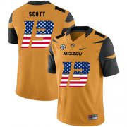 Wholesale Cheap Missouri Tigers 13 Kam Scott Gold USA Flag Nike College Football Jersey