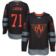 Wholesale Cheap Team North America #71 Dylan Larkin Black 2016 World Cup Stitched NHL Jersey