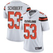 Wholesale Cheap Nike Browns #53 Joe Schobert White Men's Stitched NFL Vapor Untouchable Limited Jersey