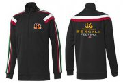 Wholesale Cheap NFL Cincinnati Bengals Victory Jacket Black_1