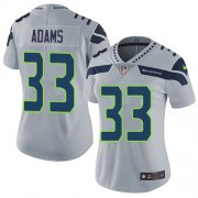 Wholesale Cheap Nike Seahawks #33 Jamal Adams Grey Alternate Women's Stitched NFL Vapor Untouchable Limited Jersey
