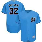 Wholesale Cheap marlins #32 Derek Dietrich Blue Flexbase Authentic Collection Stitched MLB Jersey