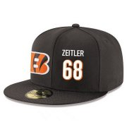 Wholesale Cheap Cincinnati Bengals #68 Kevin Zeitler Snapback Cap NFL Player Black with White Number Stitched Hat