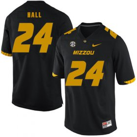 Wholesale Cheap Missouri Tigers 24 Terez Hall Black Nike College Football Jersey