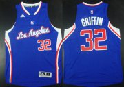 Wholesale Cheap Los Angeles Clippers #32 Blake Griffin Revolution 30 Swingman 2014 New Blue Jersey