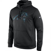 Wholesale Cheap Men's Carolina Panthers Nike Black Practice Performance Pullover Hoodie