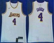 Wholesale Cheap Men's Los Angeles Lakers #4 Alex Caruso 2019 White Nike Swingman Stitched NBA Jersey
