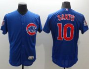 Wholesale Cubs #10 Ron Santo Blue Flexbase Authentic Collection Stitched Baseball Jersey