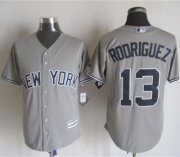 Wholesale Cheap Yankees #13 Alex Rodriguez Grey New Cool Base Stitched MLB Jersey