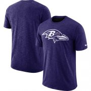Wholesale Cheap Men's Baltimore Ravens Nike Purple Sideline Cotton Slub Performance T-Shirt