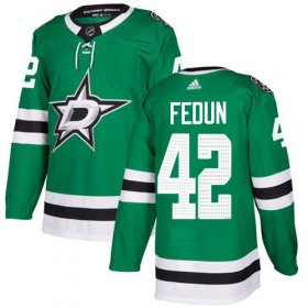 Cheap Adidas Stars #42 Taylor Fedun Green Home Authentic Stitched NHL Jersey