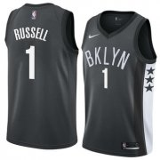 Wholesale Cheap NBA Brooklyn Nets #1 Dangelo Russell Jersey 2017-18 New Season Black Jerseys