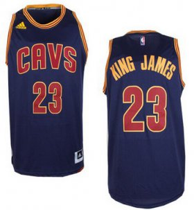 Wholesale Cheap Men\'s Cleveland Cavaliers #23 King James Nickname Revolution 30 Swingman 2014 New Navy Blue Jersey -Printed !!