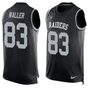 Wholesale Cheap Nike Raiders #83 Darren Waller Black Team Color Men's Stitched NFL Limited Tank Top Jersey