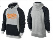 Wholesale Cheap Baltimore Orioles Pullover Hoodie Grey & Black