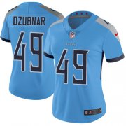 Wholesale Cheap Nike Titans #49 Nick Dzubnar Light Blue Alternate Women's Stitched NFL Vapor Untouchable Limited Jersey