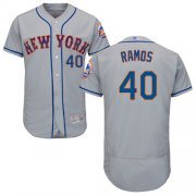 Wholesale Cheap Mets #40 Wilson Ramos Grey Flexbase Authentic Collection Stitched MLB Jersey