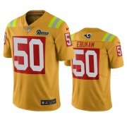Wholesale Cheap Los Angeles Rams #50 Samson Ebukam Gold Vapor Limited City Edition NFL Jersey