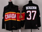Wholesale Cheap Olympic 2014 CA. #37 Patrice Bergeron Black Stitched NHL Jersey
