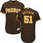 Wholesale Cheap Padres #51 Trevor Hoffman Brown Flexbase Authentic Collection Stitched MLB Jersey