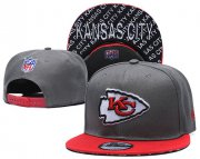 Wholesale Cheap Chiefs Team Logo Gray Red Adjustable Hat TX