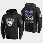 Wholesale Cheap Panthers #95 Henrik Borgstrom NHL Banner Wave Usa Flag Black Hoodie