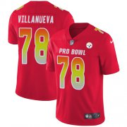 Wholesale Cheap Nike Steelers #78 Alejandro Villanueva Red Youth Stitched NFL Limited AFC 2018 Pro Bowl Jersey