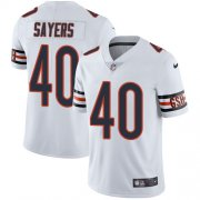 Wholesale Cheap Nike Bears #40 Gale Sayers White Men's Stitched NFL Vapor Untouchable Limited Jersey