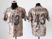 Wholesale Cheap Nike Steelers #43 Troy Polamalu Camo Men's Stitched NFL New Elite USMC Jersey