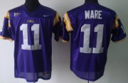 Wholesale Cheap LSU Tigers #11 Spencer Ware Purple Jersey