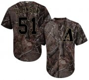Wholesale Cheap Diamondbacks #51 Randy Johnson Camo Realtree Collection Cool Base Stitched Youth MLB Jersey
