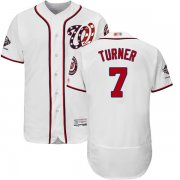 Wholesale Cheap Nationals #7 Trea Turner White Flexbase Authentic Collection 2019 World Series Champions Stitched MLB Jersey