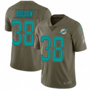 Wholesale Cheap Nike Dolphins #38 Brandon Bolden Olive Men's Stitched NFL Limited 2017 Salute To Service Jersey