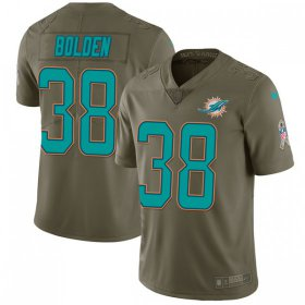 Wholesale Cheap Nike Dolphins #38 Brandon Bolden Olive Men\'s Stitched NFL Limited 2017 Salute To Service Jersey
