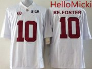 Wholesale Cheap Men's Alabama Crimson Tide #10 Reuben Foster White 2016 BCS College Football Nike Limited Jersey