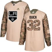Wholesale Cheap Adidas Kings #32 Jonathan Quick Camo Authentic 2017 Veterans Day Stitched Youth NHL Jersey