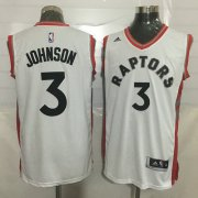 Wholesale Cheap Men's Toronto Raptors #3 James Johnson White New NBA Rev 30 Swingman Jersey