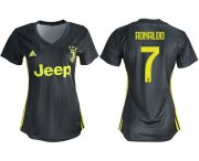 Wholesale Cheap Women's Juventus #7 Ronaldo Third Soccer Club Jersey