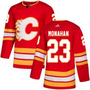 Wholesale Cheap Adidas Flames #23 Sean Monahan Red Alternate Authentic Stitched NHL Jersey