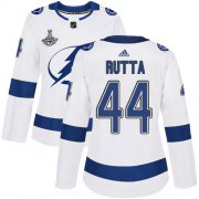 Cheap Adidas Lightning #44 Jan Rutta White Road Authentic Women's 2020 Stanley Cup Champions Stitched NHL Jersey